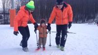 najmłodszy narciarz